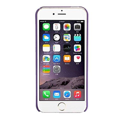 Vovotrade® Intagliato motivo damascato della copertura della cassa opaca per IPhone 5 5S (nero) viola