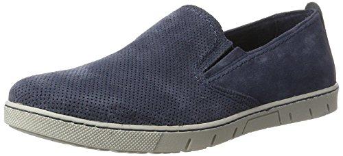 Bianco Herren Wildleder Loafer 60-71524 Slipper Blau (Navy Blue)