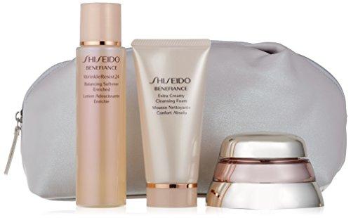 Shiseido-bio-performance Advanced Super Restoring Creme + Schaumstoff Reinigungstuch + Lotion Anti Aging + Serum Konzentrat-1Pack -