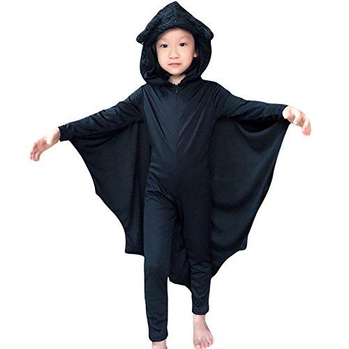 Costour Damen Kostüm für Karneval Halloween Fledermaus Hexe Cosplay Set (M, Black (Kostüme Hexe Kid)