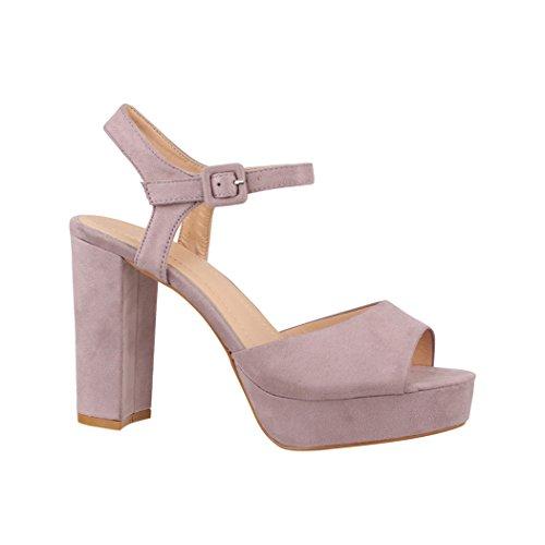 Blu 38 EU Angkorly Scarpe Moda Sandali con Cinturino Alla Caviglia Donna c20