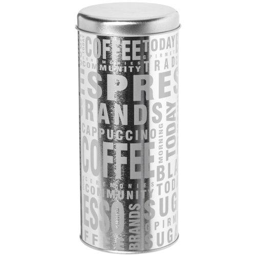 """Confezione per capsule o cialde Tassimo Senseo Parola """"Coffee"""" Argentato"""