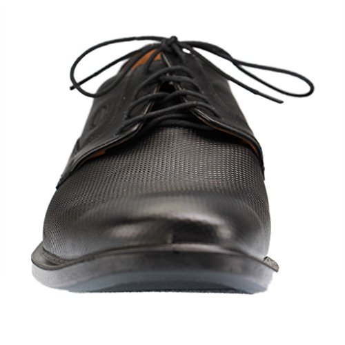 Jomos–20820523–Homme Chaussures Basses Lacets Derby–Noir XXL Chaussures en übergrößen Schwarz