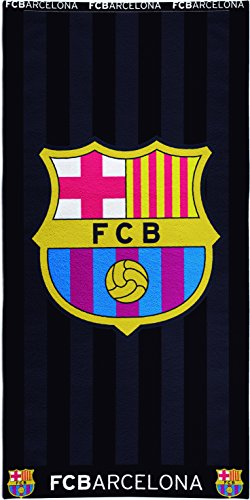 Toalla Estampada FCBarcelona 100×170 cm color negro