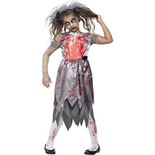 Unbekannt Halloween Horror Kinder Kostüm Zombie Braut Gr.7 bis 9 Jahre (Braut Halloween Kostüm Für Kinder)