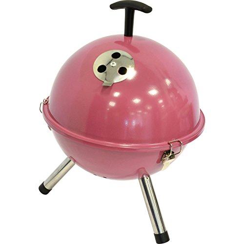 Kugelgrill Grill Rund Pink, Grün, Schwarz, Rot Grill Tischplatte Grillen (Pink)