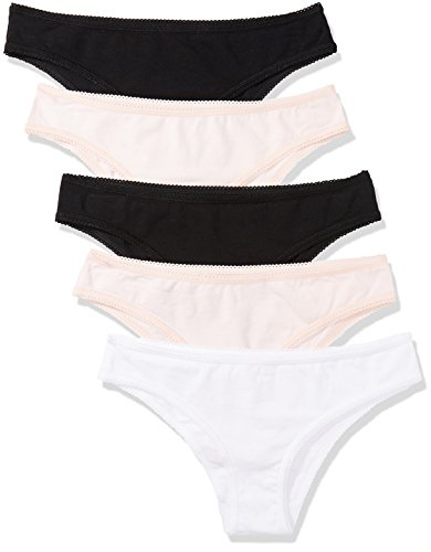 Iris & Lilly Women's Cotton Brazilian Knicker, Pack of 5