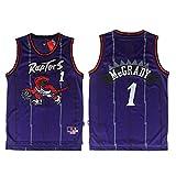 TGSCX McGrady # 1 Toronto Raptors All-Star-Trikot - Klassisches Retro-Sport-T-Shirt mit komfortablem, leichtem und atmungsaktivem Schnitt, Unisex-Fan-Swingman-Trikot,L(180cm/75~85kg)