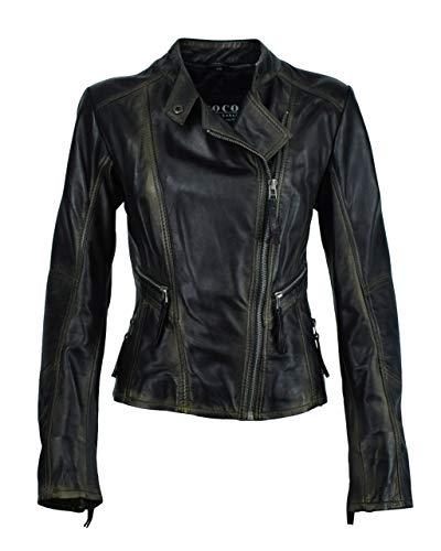 Bikerjacke Amalia, Size:40, Colour:metallic Black -