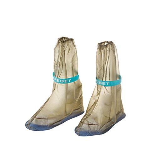 QHGstore 1 paire de femmes Chaussures étanches Couverture pluie Anti Slip Boot PVC Overshoes