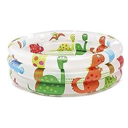 Intex- Piscina Baby Pool 3 Anelli, 61×22 cm, 57106