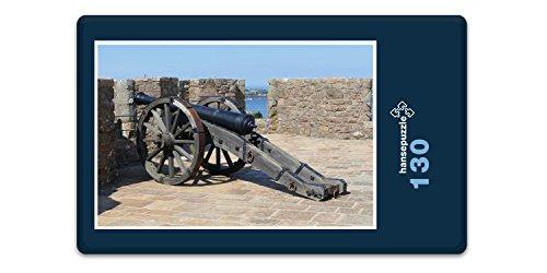 hansepuzzle 20504 Orte - Burg auf Jersey, 130 Teile in hochwertiger Kartonbox, Puzzle-Teile in wiederverschliessbarem Beutel. -