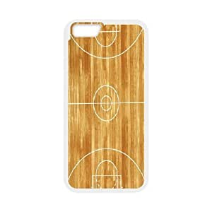 Kweet Sports Life 3 Basketball Court Cases For iPhone 6 Cool, Iphone 6 Cases For Girls Cheap Protective For Girls With White