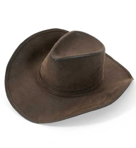 Cowboyhut Cowboy Bandit Hut braun Unisex Unversalgröße (Kuh Hut Erwachsene)