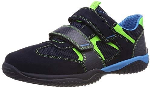 Superfit Jungen Storm Sneaker, (Blau/Grün 81), 29 EU