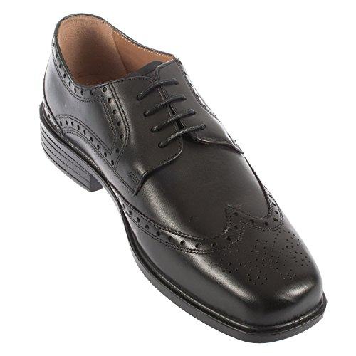 Padders Reid da uomo pelle Lace Up Brogue shoe (146/11) Black Polished