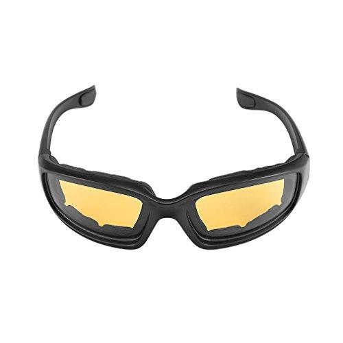 Yxaomite Motorradbrille Schutzbrille Fahrradbrille Radsportbrille Skibrille mit UV400 Outdoor Schutz für Damen und Herren Sonnenüberbrille Autofahren Laufen Radfahren Angeln Gelb By