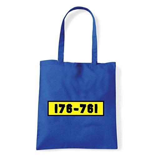 Art T-shirt, Tasche Shoulder-Dackel, Blau, banda-bassotti-bag-blu Einheitsgröße
