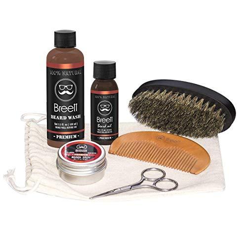 Barba cuidado kit, Breett barba aceite, bálsamo barba