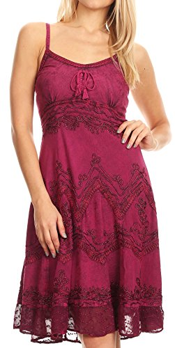 hed Rayon verstellbares Mid Length Kleid - Orchidee - 1X/2X (Renaissance-kleidung Bauer)