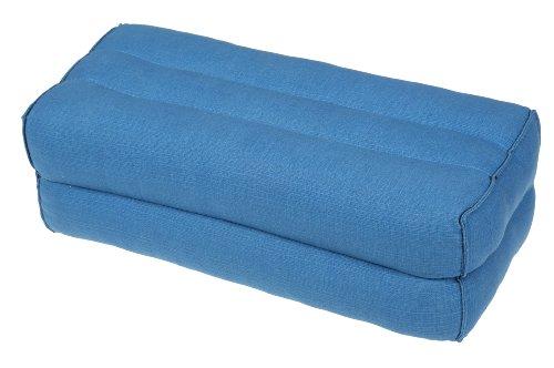 Bloque de yoga para la meditación (35x15x10 cm, cojín de soporte con relleno de kapok), azúl claro