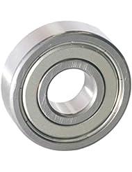 EZO - Roulement à billes à gorge profonde rangée simple en acier inoxydable 6200 ZZ (10x30x9)