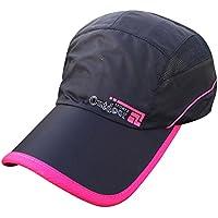 shopbibles Outdoor Sport de Verano Unisex malla Sun Visor Sun Gorras de béisbol de secado rápido Sombreros Caps, negro