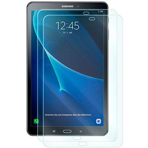 dreiF 2X Display Schutzglas für Samsung Galaxy TAB A 10.1 (SM-T585) (2016)   Härtegrad 9H   Kratzfest + Abwaschbar   Sensible Touchfunktion bleibt erhalten