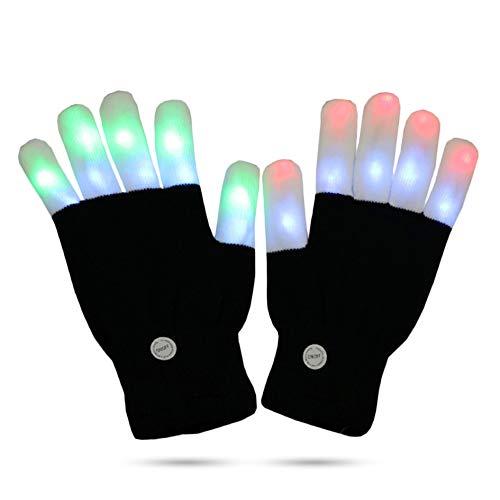 (LED-Lichthandschuhe, blinkende Finger-Lichter, Spielzeug mit 3 bunten Lichtern und 6 leuchtenden Modi)