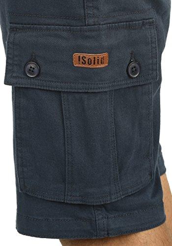 SOLID Lixa Herren Cargo-Shorts kurze Hose mit Taschen aus hochwertiger Baumwollmischung Insignia Blue (1991)