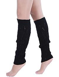 Jelinda Z Mujeres Invierno calentador de pierna Puños de punto de ganchillo de arranque Calcetines de