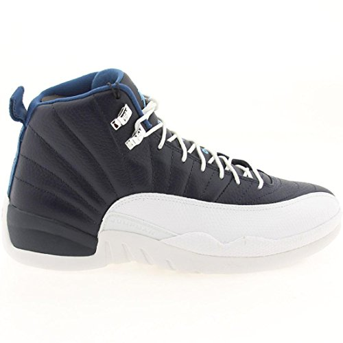 Hommes Air Jordan Retro Chaussures de basket Obsidian obsdn/unvrsty bl-wht-french bl