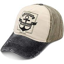 DORRISO Vintage Uomini Donna Hip Hop Baseball Caps Visiera Cappello da Sole  Vacanza Viaggio Golf Tennis 6ac63c0b07b1