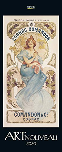 Art Nouveau 2020: Kunstkalender mit Jugendstilplakaten der Belle Époque. Wandkalender im Hochformat: 28,5 x 69 cm, Foliendeckblatt -