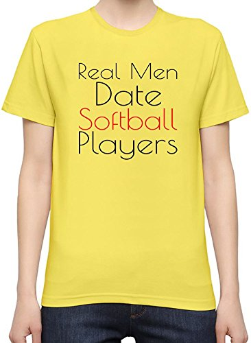 real-men-date-softball-players-slogan-t-shirt-per-donne-small