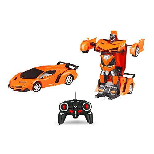 RC Fernbedienung Roboter 2 in 1 RC Auto Sport Verwandeln 1:18 Auto Transformers Roboter Spielzeug Elektroauto Modell mit Fernbedienung Kampf Spielzeug für Kinder