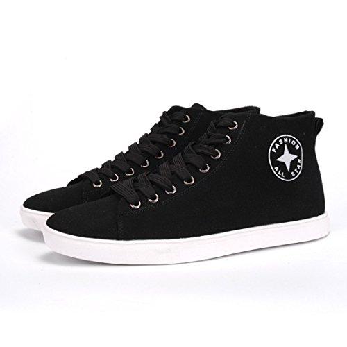 Men's Classic Style Flat Anti Slip Skateboarding Shoes Black