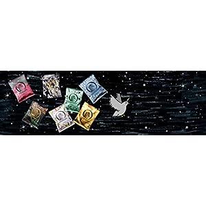 Einhorn Kondome Jahresvorrat Vegan, Hormonfrei, Feucht, 7er Pack, (7 Tüten x 7 Stück), 49 Kondome