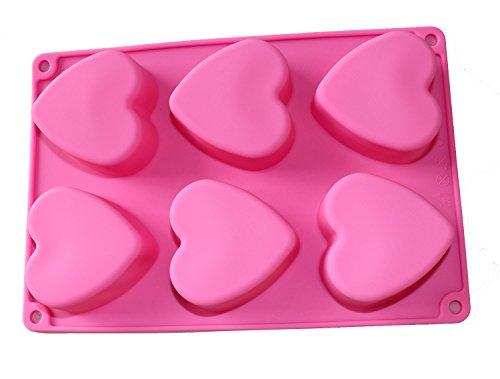 dingsheng Love Geschenk 6Herz Form Kuchen Muffin Backen -