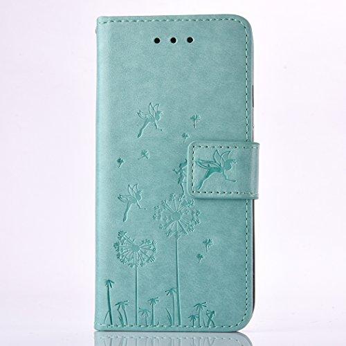 iPhone 6 plus Case, iPhone 6S plus Caso, Ekakashop Bling di modo di disegno del diamante ultra sottile laser di TPU Gel silicone flessibile(con la spina della polvere) cover protettiva trasparente cov Verde#1