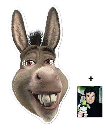 Donkey from Shrek Single Karte Partei Gesichtsmasken (Maske) Enthält 6X4 (15X10Cm) starfoto