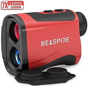 Beaspire Laser Golf Entfernungsmesser, Sport Rangefinder 1100yards/1000m, Jagd Lasermessgerät 1500mAh Wiederaufladbar…