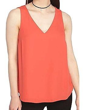 PengGeng Mujeres V-Cuello Camisetas Sin Mangas Chaleco Camiseta Tank Tops Blusa Camiseta