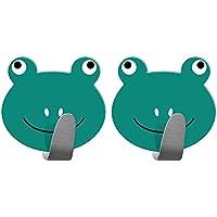 Tatkraft Frogs Gancho Toallero Adhesivo Infantil Acero Inoxidable 2 Unidades