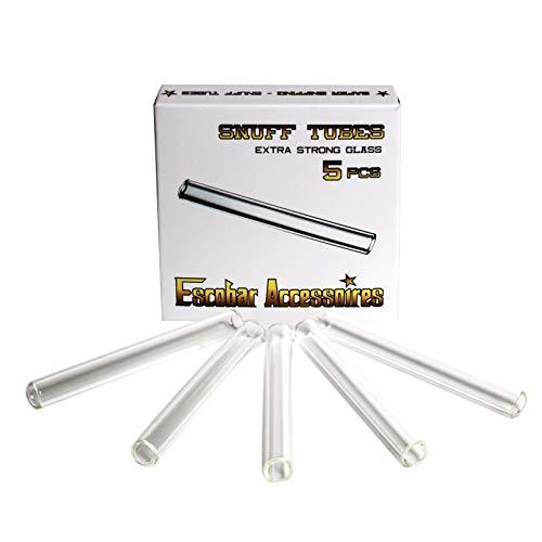 Escobar Accessoires 5 Ziehröhrchen aus Glas - Länge 70mm für Schnupftabak