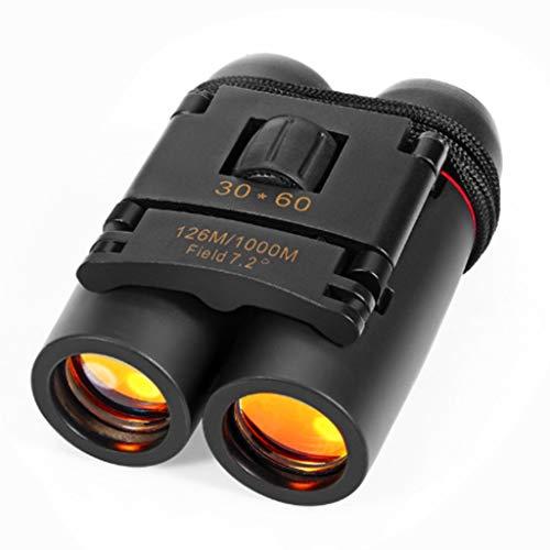 QINWEI Binoculares, película Azul para Exteriores 30X60 Zoom, Tubo Doble, óptica de...