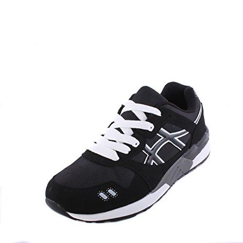 Baskets de cours'à pied pour femme Casual Chaussures à lacets Ace léger de sport Noir - noir