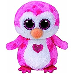 Ty Juliet Peluche pingüino, Color Rosa, 15 cm (United Labels Ibérica 36865TY)