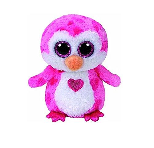 TY 36865 Juliet, Pinguin Pink m. Herz 15cm, mit Glitzeraugen, Beanie Boo's, Valentin Limitiert, 15 - Pinguin Große Augen Plüschtiere