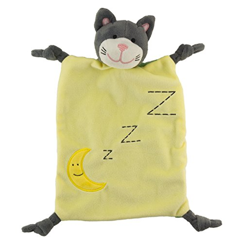 """Schmusetuch / Schnuffeltuch """"Mister Katz"""": kuschelweich, pflegeleicht und waschbar bei 30°C - Das perfekte Geschenk zu Geburt, Taufe oder der nächsten Babyparty"""